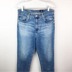 AG medium wash skinny jeans vintage hi waisted 29